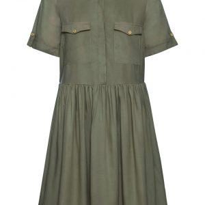Sukienka koszulowa kolor zielony
