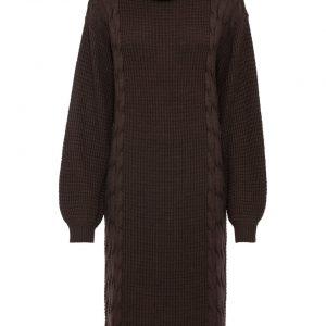 sukienka na zimę kolor brązowy
