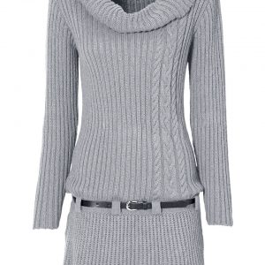 sukienka na zimę kolor szary