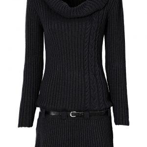 sukienka na zimę kolor czarny