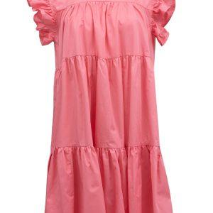 Krótka sukienka z falbankami zamiast rękawów Devotion.