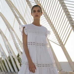 Krótka sukienka z koronkowymi wstawkami Devotion krótka.
