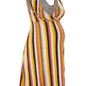 Sukienka ciążowa i do karmienia LENZING™ ECOVERO™ bonprix w kolorowe paski krótka.