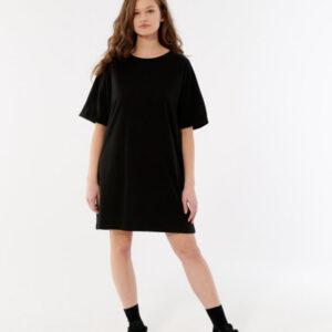 Sukienka t-shirtowa mini krótka.