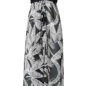 Sukienka plażowa z dekoltem bandeau bonprix czarno-biały