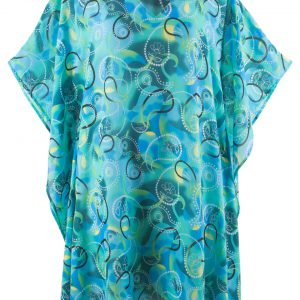 Sukienka plażowa bonprix niebiesko-turkusowy z nadrukiem