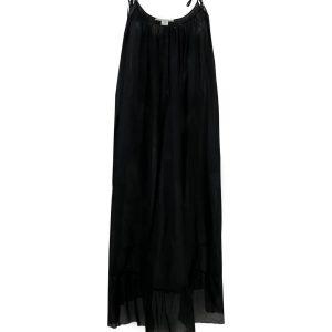 STELLA MCCARTNEY - Czarna sukienka midi Iconic Chain