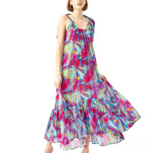 COSEL - Wzorzysta sukienka Caicos