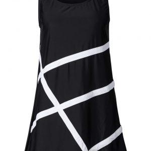 Sukienka plażowa z materiału kąpielowego bonprix czarno-biały