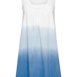 Sukienka plażowa bonprix biało-niebieski