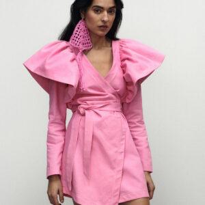 VICHER - Asymetryczna sukienka jeansowa ROSA