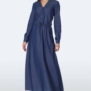 Sukienka Jeansowa sukienka maxi S156 Jeans - Nife