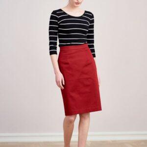 Spódnica Leto bawełna z elastanem bordo