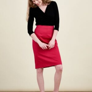 Spódnica Leto bawełna z elastanem czerwień perska