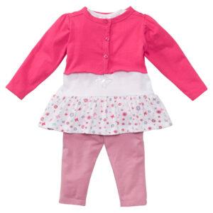 Bolerko niemowlęce + koszulka + legginsy (3 części)